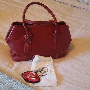 COACH bag and key chain or bag charm